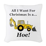 Christmas Hoe Woven Throw Pillow