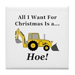 Christmas Hoe Tile Coaster