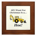 Christmas Hoe Framed Tile
