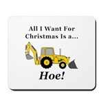 Christmas Hoe Mousepad