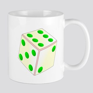 Tumbling Ivory Dice Mugs