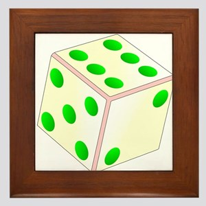 Tumbling Ivory Dice Framed Tile