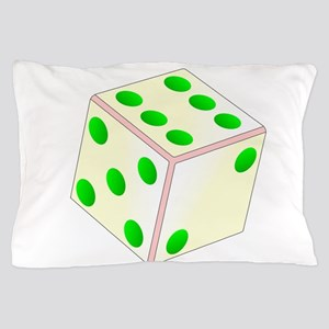 Tumbling Ivory Dice Pillow Case