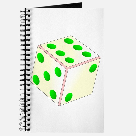 Tumbling Ivory Dice Journal