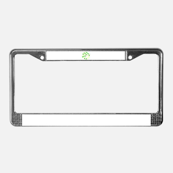 Tumbling Ivory Dice License Plate Frame