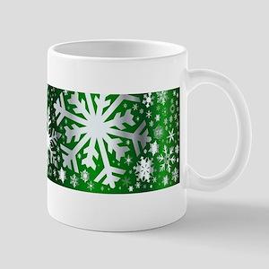 Silver Christmas Banner Mugs