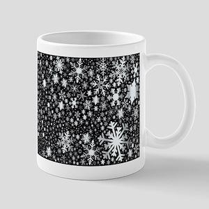 Silver Christmas Snowflakes Mugs