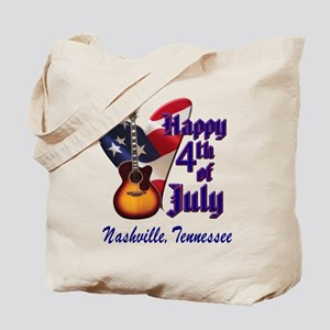 Nashville Happy 4th of July Tote Bag