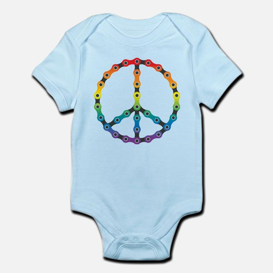 peace chain vivid Body Suit
