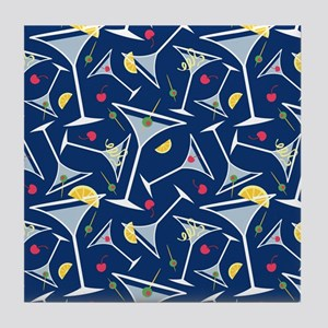 Blue Martinis Tile Coaster
