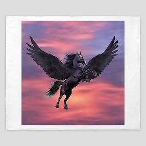 Mystical Sunset Pegasus King Duvet