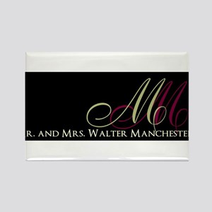 Beautiful Monogram and Text Design Magnets