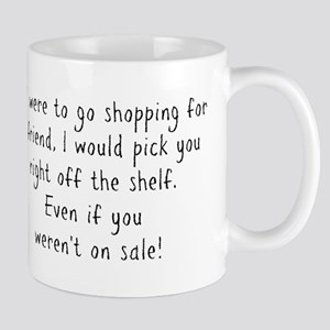 Shopping for a Friend Text Mugs