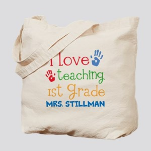 Personalized 1st Grade Teacher Tote Bag