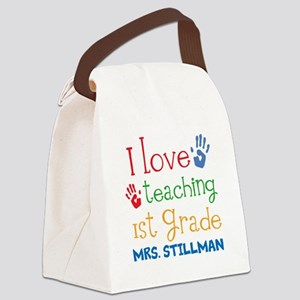 Personalized 1st Grade Teacher Canvas Lunch Bag