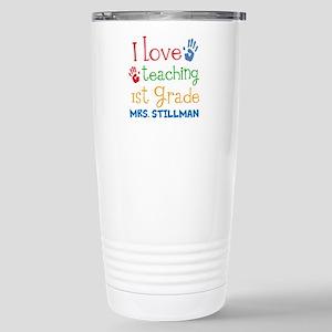 Personalized 1st Grade Teacher Travel Mug