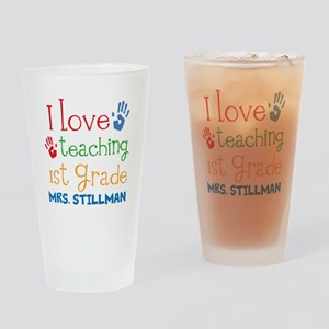 Personalized 1st Grade Teacher Drinking Glass