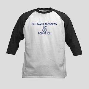 Belgian Laekenois for Peace Kids Baseball Jersey