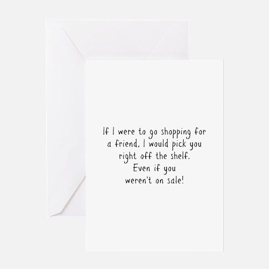 Shopping for a Friend Text Greeting Cards