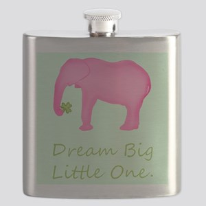 Pink Elephant Baby Wishes Flask