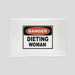 dieting woman fun Magnets