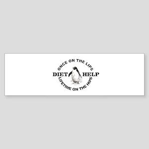 penguin diet help Bumper Sticker