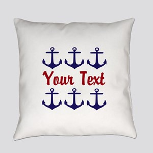 Personalizable Red and Blue Anchors Everyday Pillo
