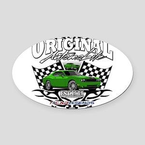 CHALLENGER HEMI Oval Car Magnet