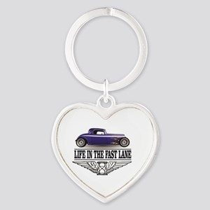 life in the fast lane blue ride Keychains