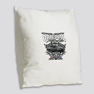 Civic Racer Burlap Throw Pillow