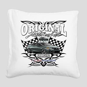 Civic Racer Square Canvas Pillow