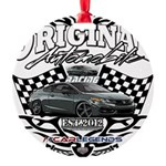Civic Racer Round Ornament