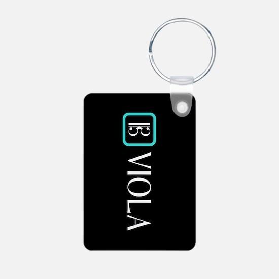 Viola & Alto Clef (Blue) Keychains