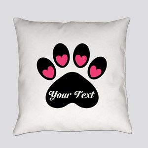 Personalizable Paw Print Everyday Pillow
