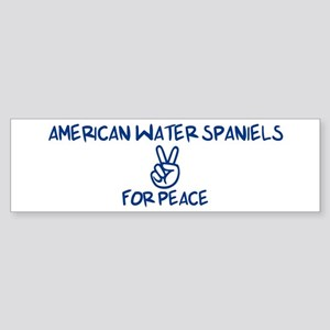 American Water Spaniels for P Bumper Sticker