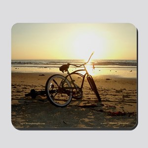 San Diego Artistic Bike on the Beach Mouse pad