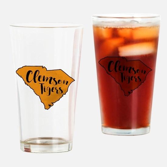 clemson tigers Drinking Glass
