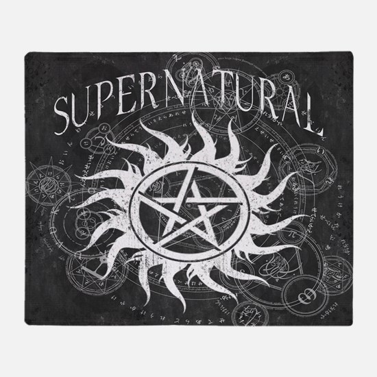 Supernatural Black Throw Blanket