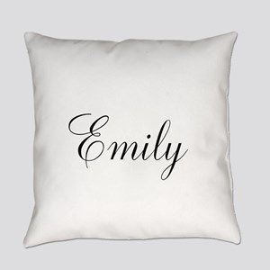 Personalized Black Script Everyday Pillow