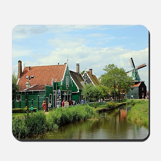 Dutch windmill village, Holland Mousepad