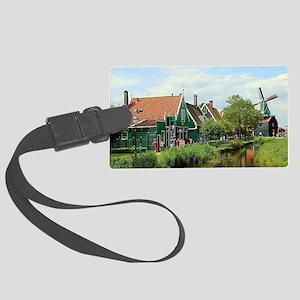 Dutch windmill village, Holland Large Luggage Tag