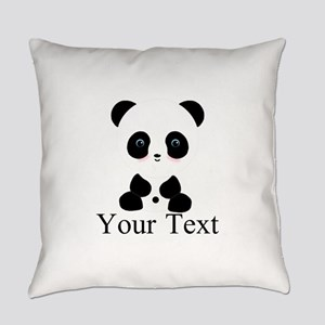 Personalizable Panda Bear Everyday Pillow