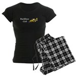 Backhoe Girl Women's Dark Pajamas