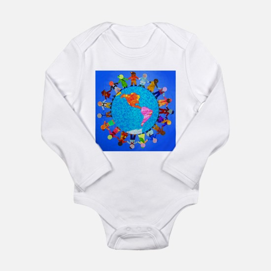 Peaceful Children around the World Body Suit