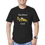Backhoe Girl Men's Fitted T-Shirt (dark)