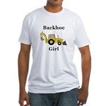 Backhoe Girl Fitted T-Shirt