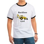 Backhoe Girl Ringer T
