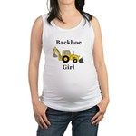 Backhoe Girl Maternity Tank Top