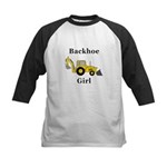 Backhoe Girl Kids Baseball Jersey