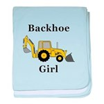 Backhoe Girl baby blanket